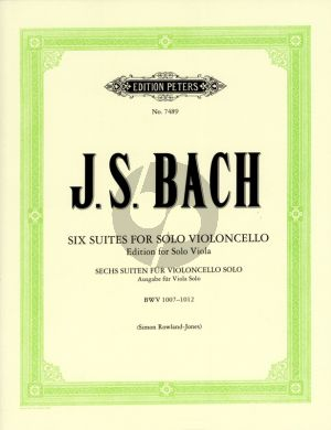 Bach 6 Suites for Viola BWV 1007 - 1012 (orig. violoncello) (edited by Simon Rowland-Jones) (Peters)