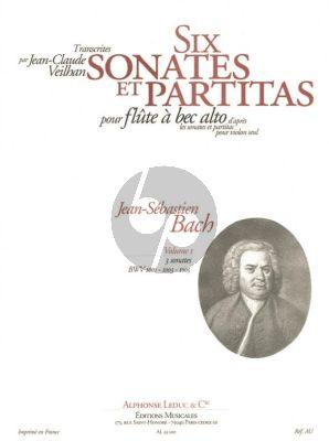 Bach 6 Sonates & Partitas V0l.1 BWV 1001-1003-1005 Treble Recorder (arr. by J.C. Veilhan) Nabestellen