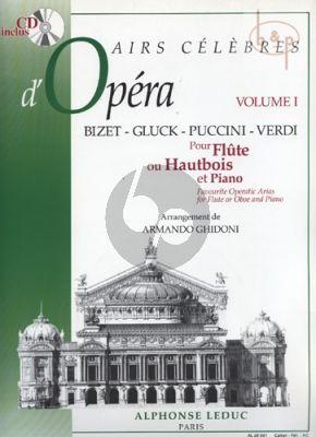 Airs Celebres d'Operas (Bizet-Gluck-Puccini- Verdi) (Flute(Oboe)-Piano)