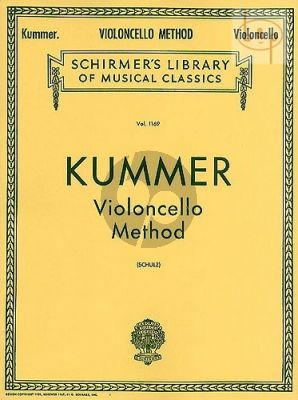Kummer Violoncello Method Op.60 (Schulz)