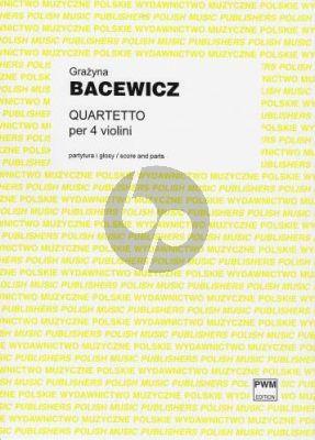 Bacewicz Quartet 4 Violins (Score/Parts)