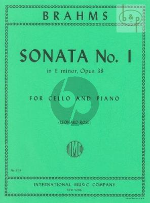 Sonata No.1 Op.38 e-minor