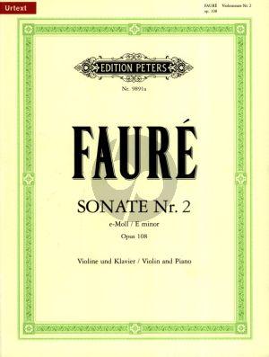 Faure Sonata No.2 e-minor Op.108 Violin and Piano (Axel von Amerongen) (Peters-Urtext)