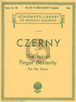 Czerny The Art of Finger Dexterity Op.740 Piano