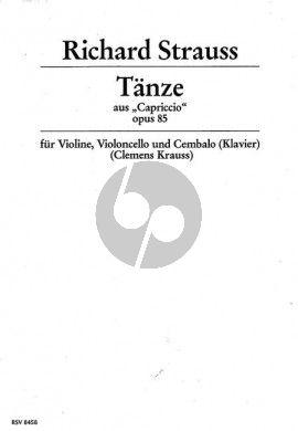 Strauss Tanze Op. 85 aus Capriccio Violine-Violoncello-Klavier (Part./Stimmen) (Clemens Krauss)