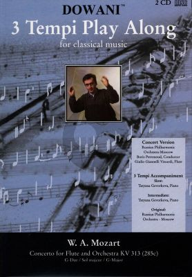 Mozart Concerto G-major KV 313 Flute (Solo Part-CD) (Dowani)