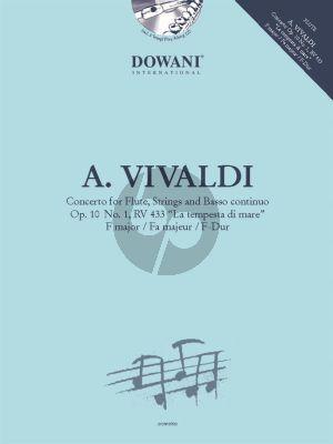 """Vivaldi Concerto F-major Op.10 No.1 RV 433 """"La Tempesta di Mare"""" (Flute and Piano) (Dowani Play-Along)"""