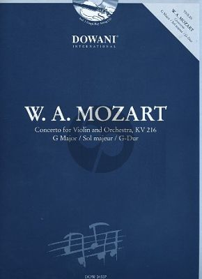 Mozart Concerto G-major KV 216 Violin (Solo Part-CD) (Dowani)