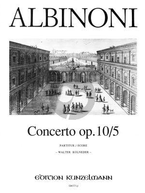 Albinoni Concerto A-dur Op.10 / 5 Violine-Streicher-Bc (Partitur) (Walter Kolneder)