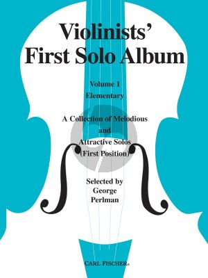 Violinist's First Solo Album Vol. 1 Violin and Piano (selected by George Perlman)
