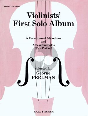 Violinist's First Solo Album Vol. 2 Violin and Piano (selected by George Perlman)