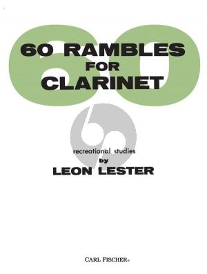 Lester 60 Rambles for Clarinet (Recreational Studies)
