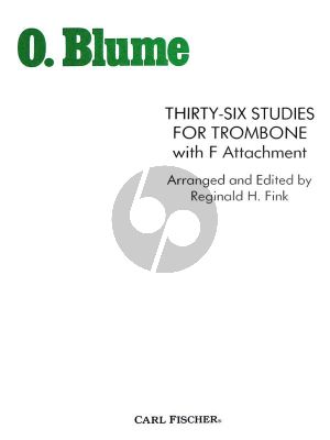 Blume 36 Studies for Trombone with F Attachment (Fink) (Trombone in Bass Clef)