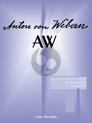 Webern Langsamer Satz (2 Vi.-Va.-Vc.) (Score/Parts)