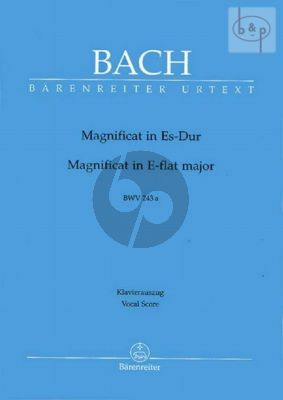 Magnificat E-flat major BWV 243A (Vocal Score)