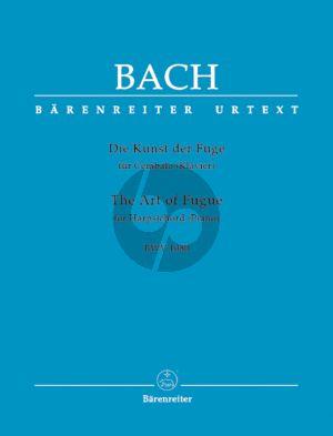 Bach Die Kunst der Fuge BWV 1080 Klavier (Klaus Hofmann) (Barenreiter-Urtext)
