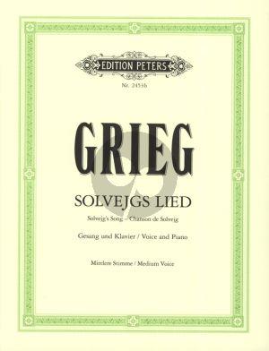 Grieg Solvejg's Lied aus Peer Gynt Op.23 Gesang (Mittel) und Klavier (Deutsch/English/Franzosisch)