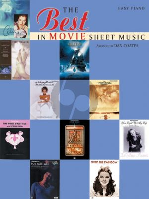 The Best in Movie Sheet Music Easy Piano (arr. Dan Coates)