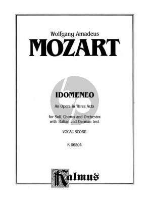 Mozart Idomeneo KV 366 Vocal Score (ital./germ.)