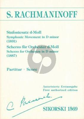 Rachmaninoff Sinfoniesatz (1891) / Scherzo für Orchester (1887) (Partitur)