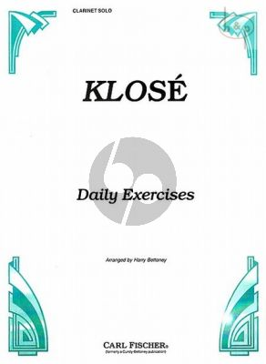 Daily Exercises for Clarinet