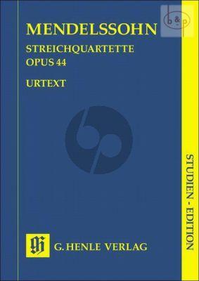 Streichquartette Op.44 No.1 - 3 Studienpart.