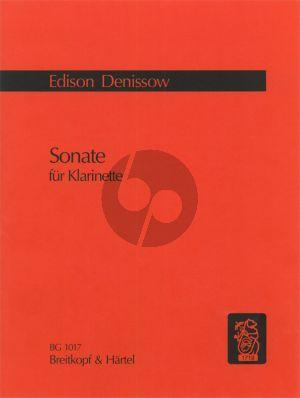 Denisov Sonate Clarinet in Bb Solo