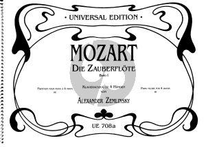 Mozart Die Zauberflote Vol.1 Piano 4 Hds. (transcr. by Alexander Zemlinsky))