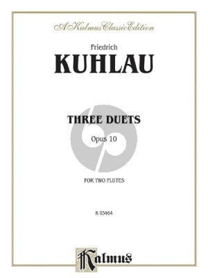 Kuhlau 3 Duets Op.10 2 Flutes (Kalmus) (grade 6)