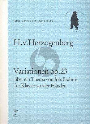 Herzogenberg Variationen Op.23 über ein Thema von Johannes Brahms