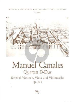 Canales Streich Quartett D-Dur Op.3 No.1 Stimmen