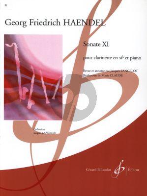Handel Sonate XI Clarinette et Piano (transcr. Jacques Lancelot)