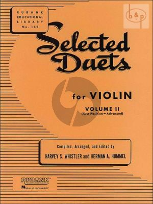 Selected Duets for Violin Vol.2 (Whistler and Hummel) (Advanced)