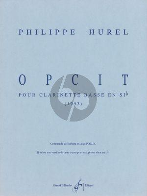 Hurel Opcit Solo B-flat clarinet (1993)