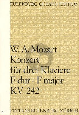 Mozart Concerto F-major KV 242 3 Piano's-Orch. Score