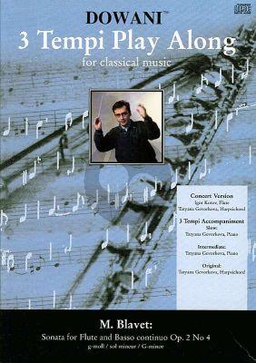 Blavet Sonata g-minor Op.2 No.4 Flute-Bc (Solo Part-CD) (Dowani)
