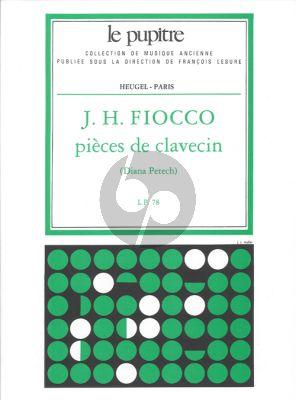Fiocco Pieces de Clavecin (Diana Petech) (Le Pupitre)