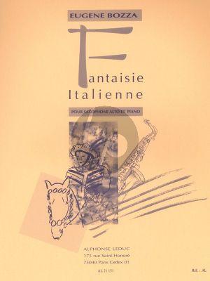 Bozza Fantaisie Italienne Saxophone Alto-Piano