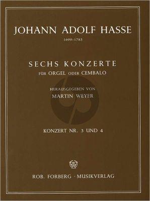 6 Konzerte No.3 - 4 Orgel oder Cembalo