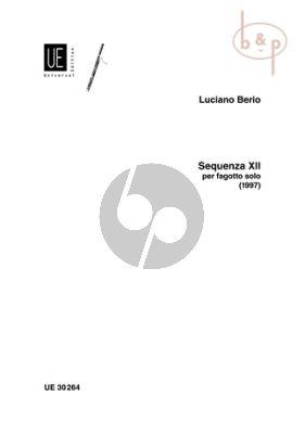 Berio Sequenza No.12 (1997) Fagott