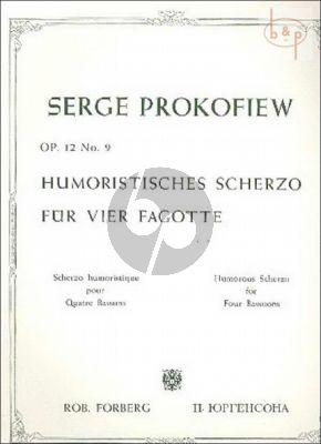 Humoristisches Scherzo Op.12 No.9 4 Bassoons
