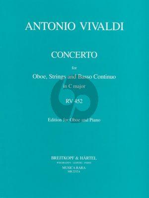 Vivaldi Concerto C-major (RV 452) Oboe-Strings-Bc. (piano red.) (Caldini)