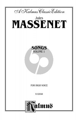 Massenet 20 Songs Vol.1 Hogh Voice and Piano