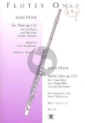 6 Trios Op.133 Vol.1 (3 Flutes[2 Fl.-Altofl.]) (or 2 Fl.-Clar.[Bb][Vi./Va.])