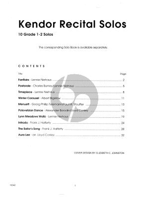 Kendor Recital Solos - Horn in F - Piano Accompaniment