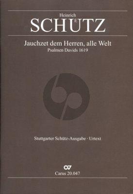 Schutz Jauchzet dem Herren alle Welt SWV 47 (aus Psalmen Davids) Partitur (Chor mit Instrumenten) (Günter Graulich)