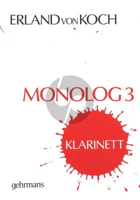 Koch Monologue No.3 Clarinet Solo