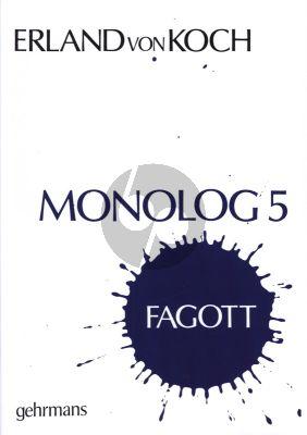 Koch Monologue No.5 Bassoon Solo