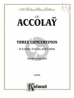 3 Concertinos Violin and Piano