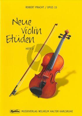 Pracht Neue Violin Etuden Op.15 Vol.2 (Schwierige Etuden in fortschreitender Folge in der 1. Lage)